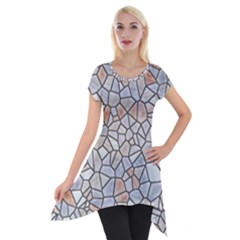 Mosaic Linda 6 Short Sleeve Side Drop Tunic