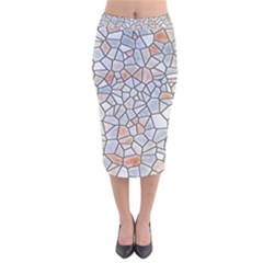 Mosaic Linda 6 Velvet Midi Pencil Skirt