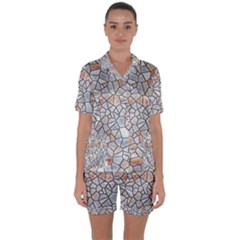 Mosaic Linda 6 Satin Short Sleeve Pyjamas Set