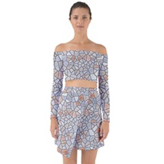 Mosaic Linda 6 Off Shoulder Top With Skirt Set