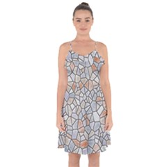Mosaic Linda 6 Ruffle Detail Chiffon Dress