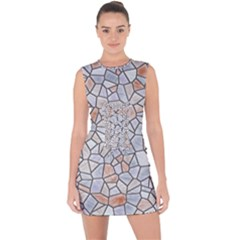 Mosaic Linda 6 Lace Up Front Bodycon Dress