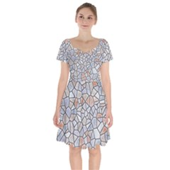 Mosaic Linda 6 Short Sleeve Bardot Dress
