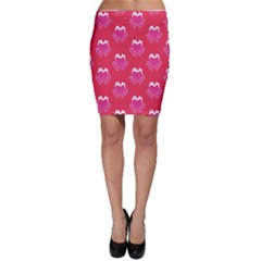 Christmas Red Pattern Reasons Bodycon Skirt