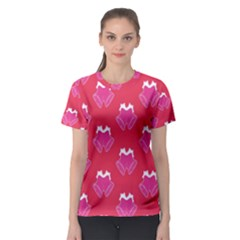 Christmas Red Pattern Reasons Women s Sport Mesh Tee