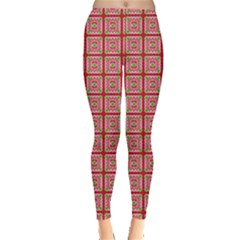 Christmas Paper Wrapping Paper Leggings