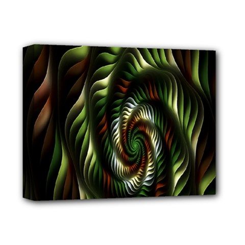 Fractal Christmas Colors Christmas Deluxe Canvas 14  X 11