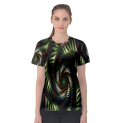 Fractal Christmas Colors Christmas Women s Sport Mesh Tee