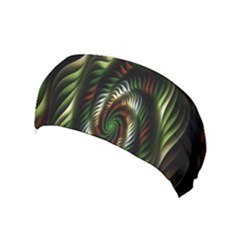 Fractal Christmas Colors Christmas Yoga Headband