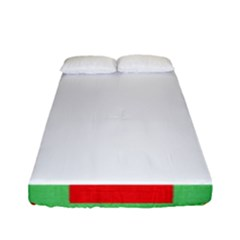 Fabric Christmas Red White Green Fitted Sheet (full/ Double Size)