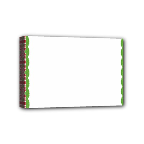 Frame Pattern Christmas Frame Mini Canvas 6  X 4