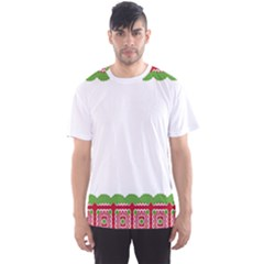 Frame Pattern Christmas Frame Men s Sports Mesh Tee