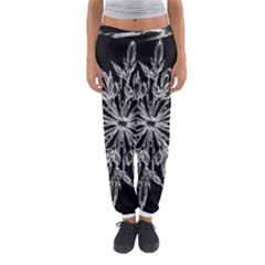 Ice Crystal Ice Form Frost Fabric Women s Jogger Sweatpants