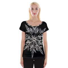 Ice Crystal Ice Form Frost Fabric Cap Sleeve Tops