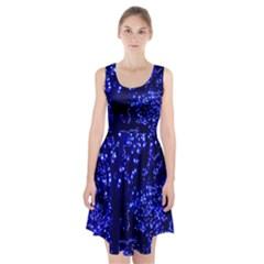 Lights Blue Tree Night Glow Racerback Midi Dress