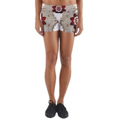 Jewelry Jewel Gems Gemstone Shine Yoga Shorts