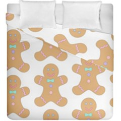 Pattern Christmas Biscuits Pastries Duvet Cover Double Side (king Size)