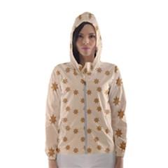 Pattern Gingerbread Star Hooded Wind Breaker (women)