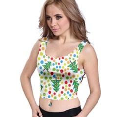 Pattern Circle Multi Color Crop Top