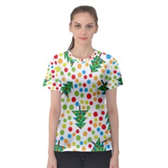 Pattern Circle Multi Color Women s Sport Mesh Tee