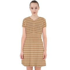 Pattern Gingerbread Brown Adorable In Chiffon Dress