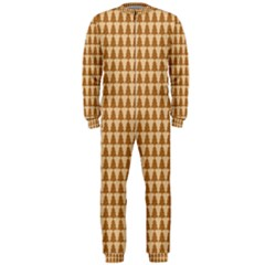 Pattern Gingerbread Brown Onepiece Jumpsuit (men)