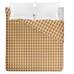 Pattern Gingerbread Brown Duvet Cover Double Side (queen Size)