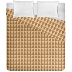 Pattern Gingerbread Brown Duvet Cover Double Side (california King Size)
