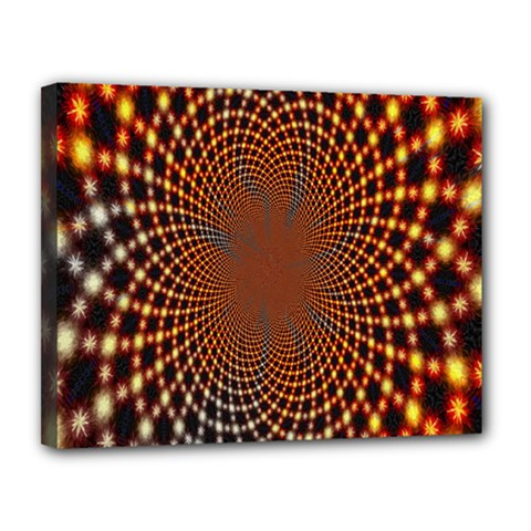 Pattern Texture Star Rings Canvas 14  X 11