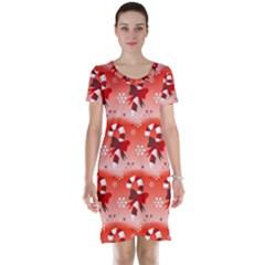 Seamless Repeat Repeating Pattern Short Sleeve Nightdress