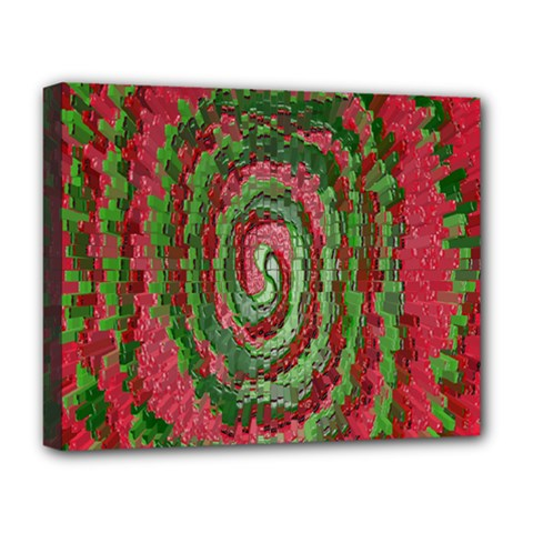 Red Green Swirl Twirl Colorful Deluxe Canvas 20  X 16