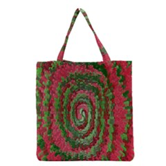 Red Green Swirl Twirl Colorful Grocery Tote Bag