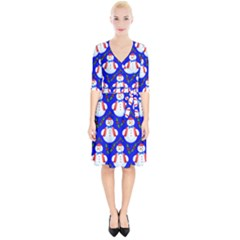 Seamless Repeat Repeating Pattern Wrap Up Cocktail Dress