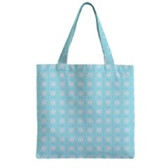 Snowflakes Paper Christmas Paper Zipper Grocery Tote Bag