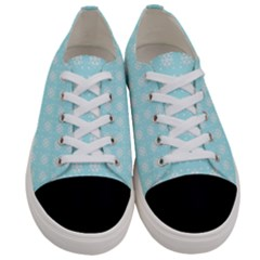 Snowflakes Paper Christmas Paper Women s Low Top Canvas Sneakers