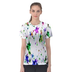 Star Abstract Advent Christmas Women s Sport Mesh Tee