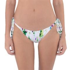 Star Abstract Advent Christmas Reversible Bikini Bottom