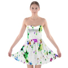 Star Abstract Advent Christmas Strapless Bra Top Dress