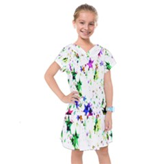 Star Abstract Advent Christmas Kids  Drop Waist Dress