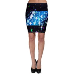 Star Abstract Background Pattern Bodycon Skirt