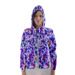 Star Abstract Advent Christmas Hooded Wind Breaker (women)