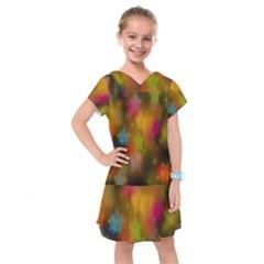 Star Background Texture Pattern Kids  Drop Waist Dress