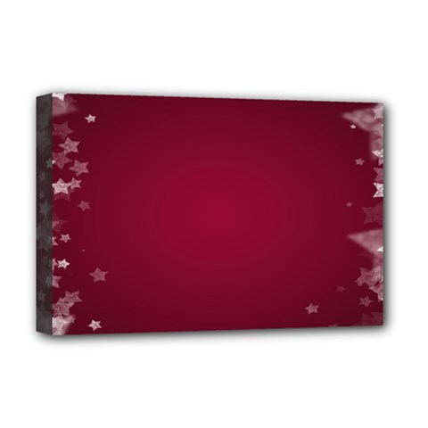 Star Background Christmas Red Deluxe Canvas 18  X 12
