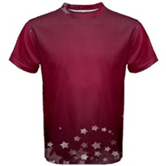Star Background Christmas Red Men s Cotton Tee