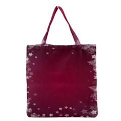 Star Background Christmas Red Grocery Tote Bag