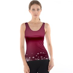 Star Background Christmas Red Tank Top