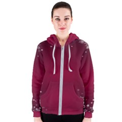 Star Background Christmas Red Women s Zipper Hoodie