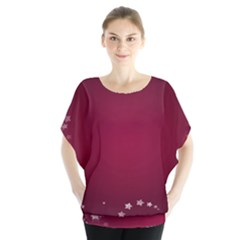 Star Background Christmas Red Blouse