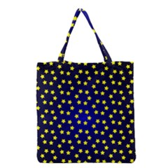 Star Christmas Red Yellow Grocery Tote Bag