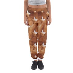 Stars Brown Background Shiny Women s Jogger Sweatpants